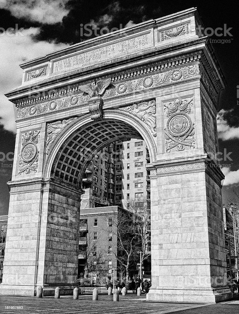 Washington Square Arch royalty-free stock photo