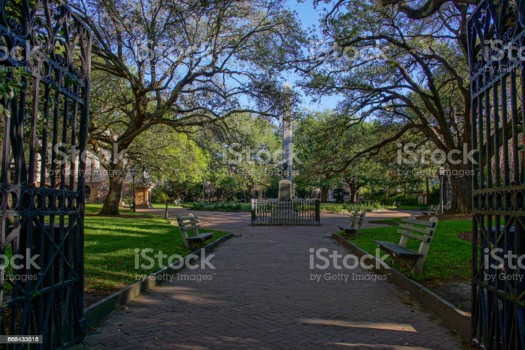 Washington Square Charleston South Carolina stock photo