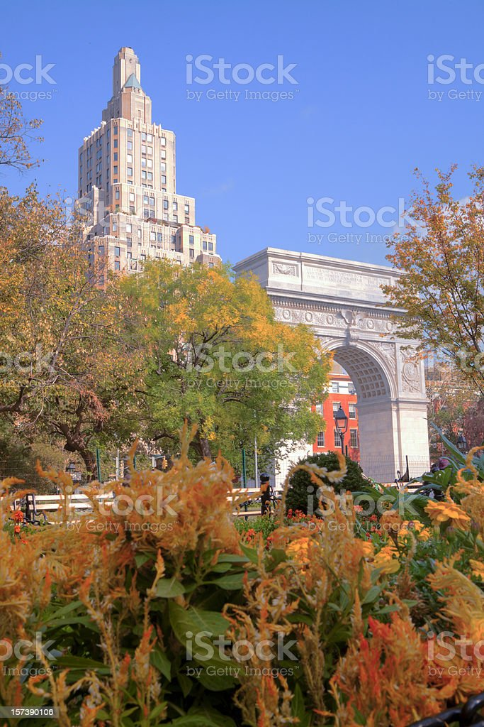 Washington Square Park in NYC stock photo