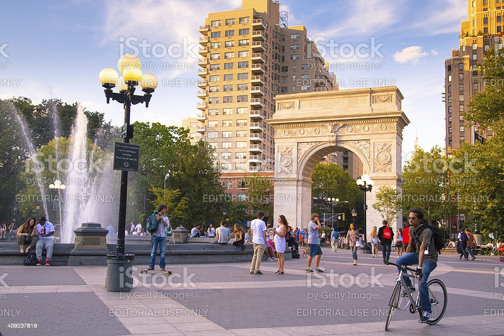 Washington Square Park NYC stock photo