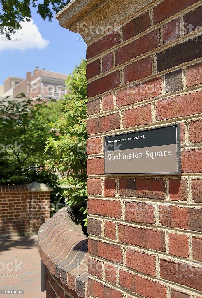 Washington Square, Philadelphia royalty-free stock photo