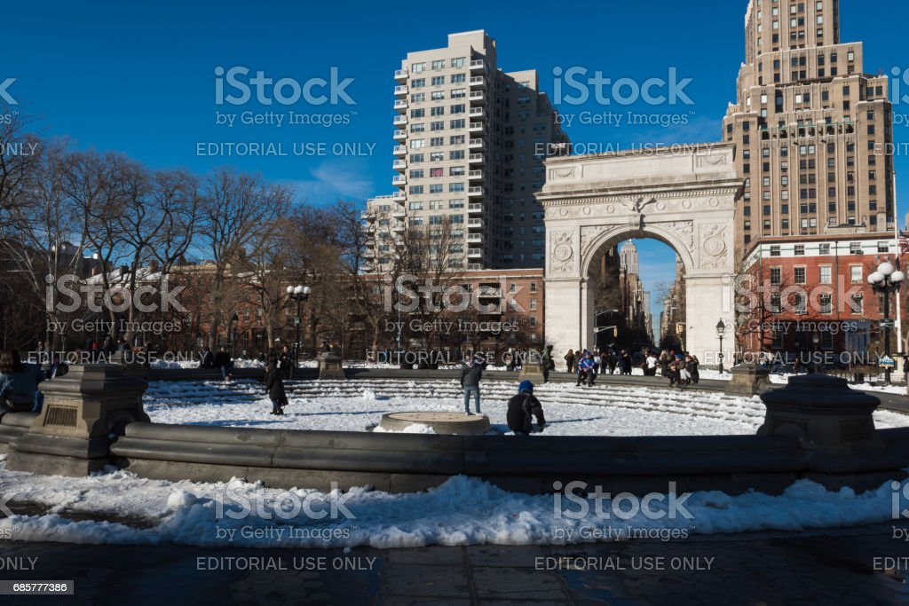 Washington Square royalty-free stock photo