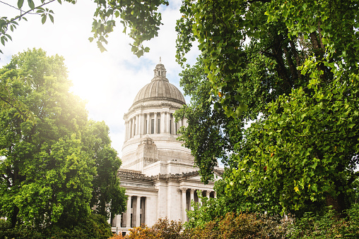 Washington State Capital Building In Olympia Stock Photo - Download Image Now