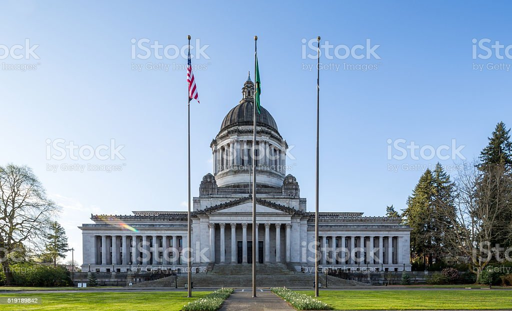 Washington state capitol building stock photo