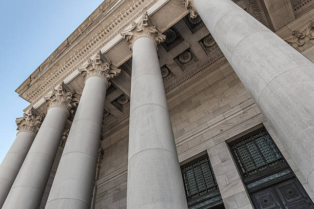 Washington State Capitol Columns stock photo