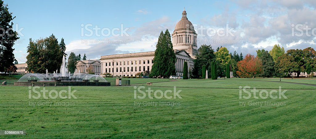 Washington State Capitol Fall 2014 stock photo