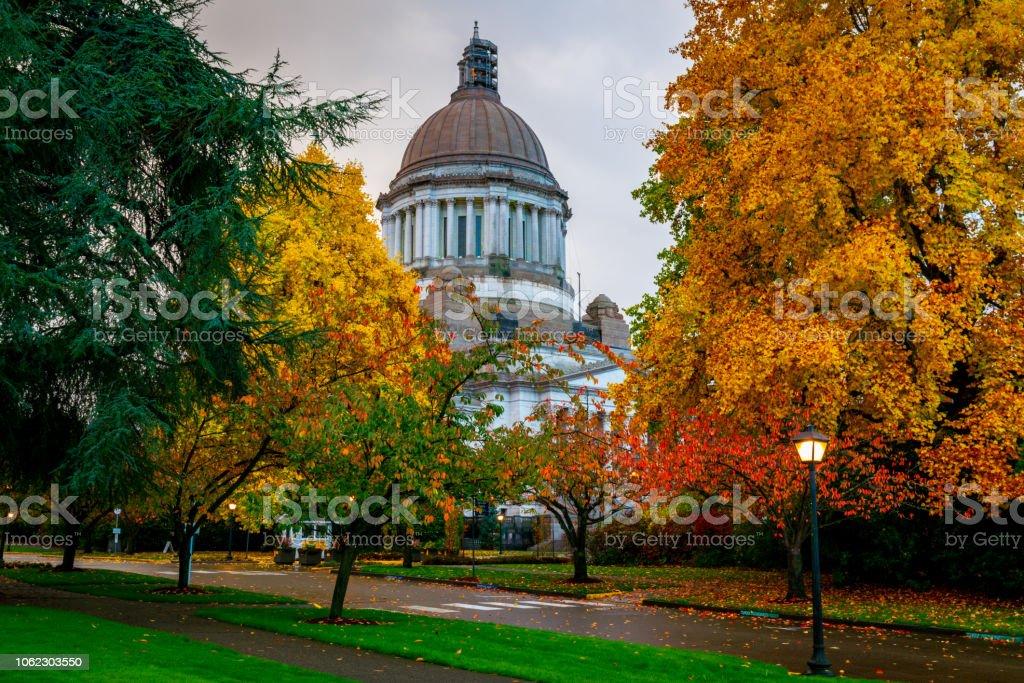 Washington State Capitol and Fall Foilage