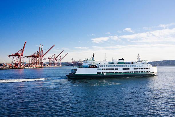 Washington State Car Ferry nach Dock – Foto