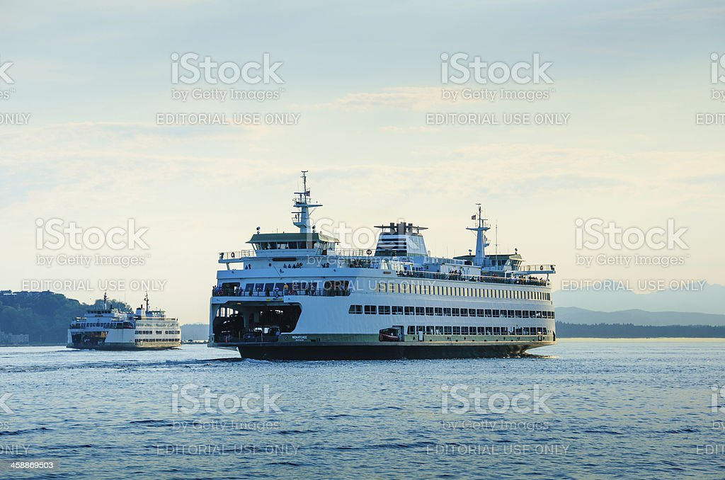 Washington State Ferries stock photo