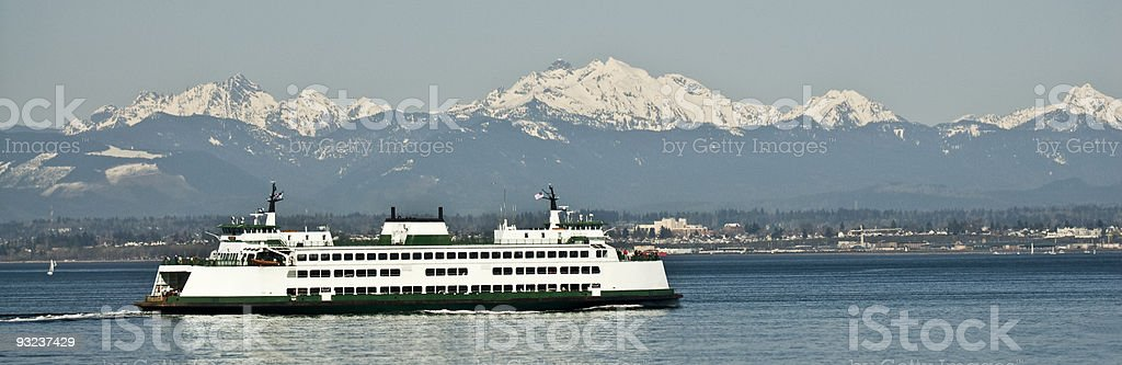 Washington State Ferry royalty-free stock photo