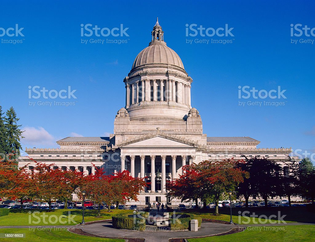 Washington State Legislative Building, Autumn 2010 stock photo