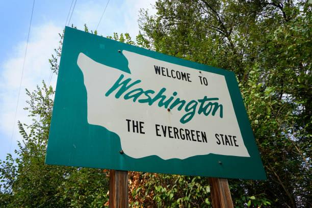 Washington state welcome to Washington State sign washington state stock pictures, royalty-free photos & images