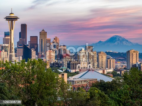 Taken from Kerry Park at sunset time.