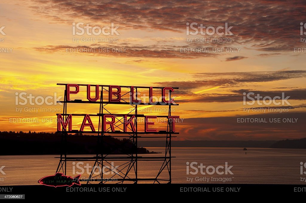 Washington Sunset royalty-free stock photo