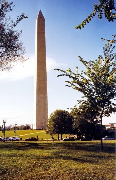 washington washington monument oktober 1997 - typisch 90er stock-fotos und bilder