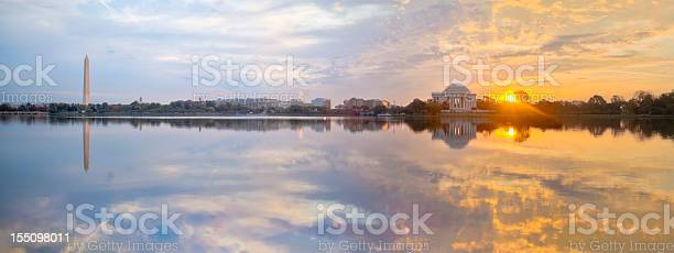 Washington tidal basin sunrise with beautiful reflections panorama picture id155098011?b=1&k=6&m=155098011&s=612x612&h=azgexyxager2pzmj8z8pnk8m mp9ntao5pwoxlq2nl0=