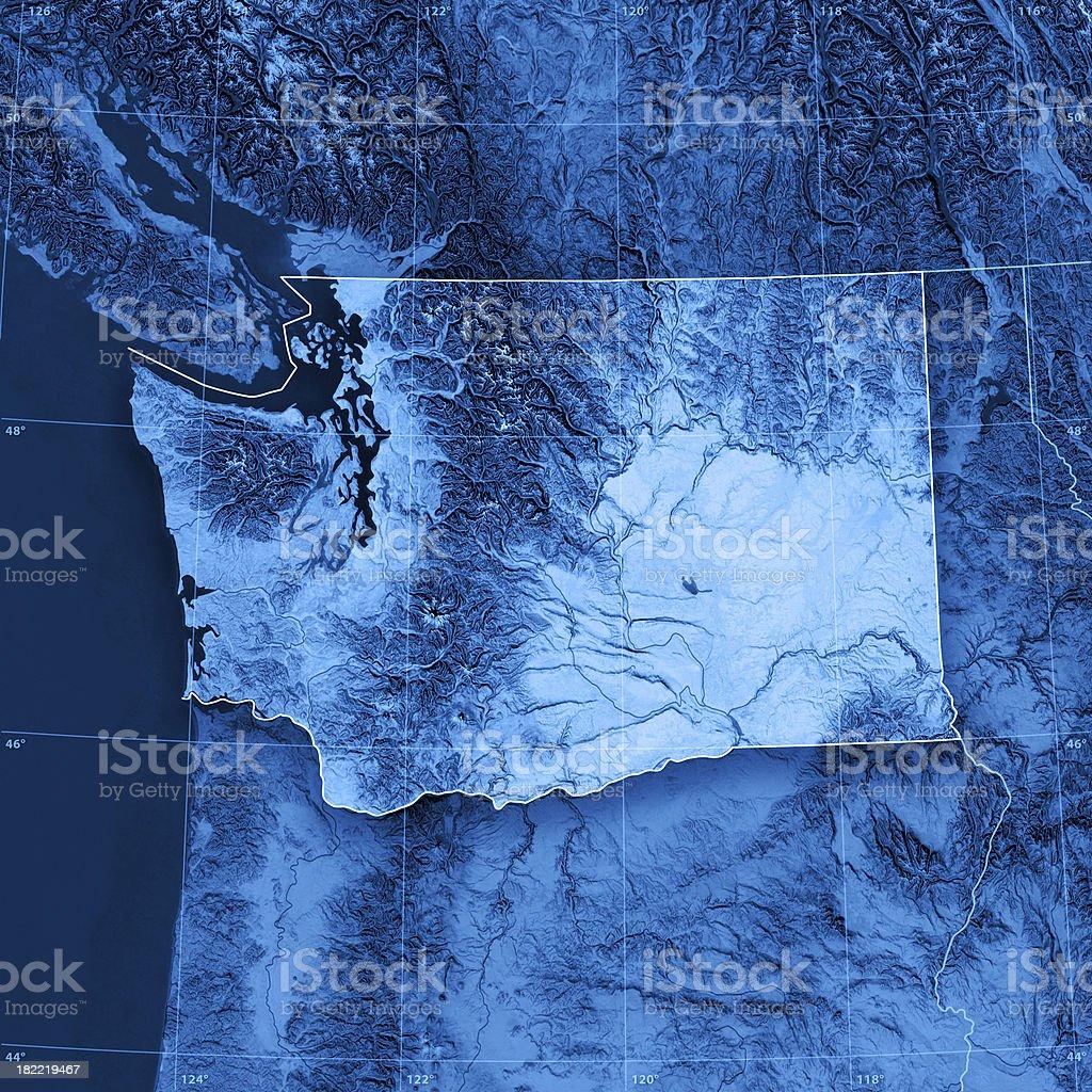 Washington Topographic Map stock photo