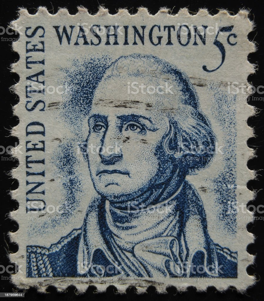 Washington U.S. Postage Stamp royalty-free stock photo