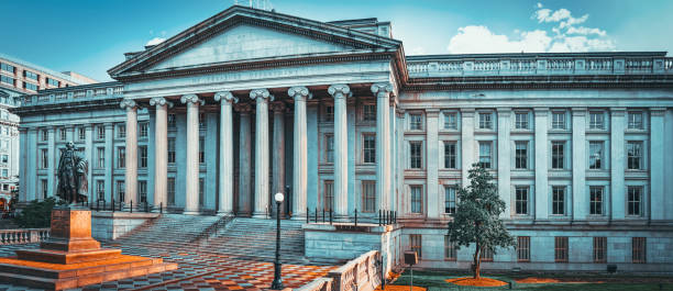 Washington, USA, US Treasury Department and Inspector General Office. stock photo