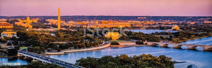 Washington,D.C._ Sunset Aerial