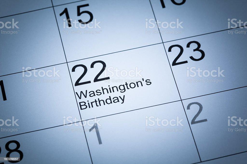 Washington de cumpleaños foto de stock libre de derechos
