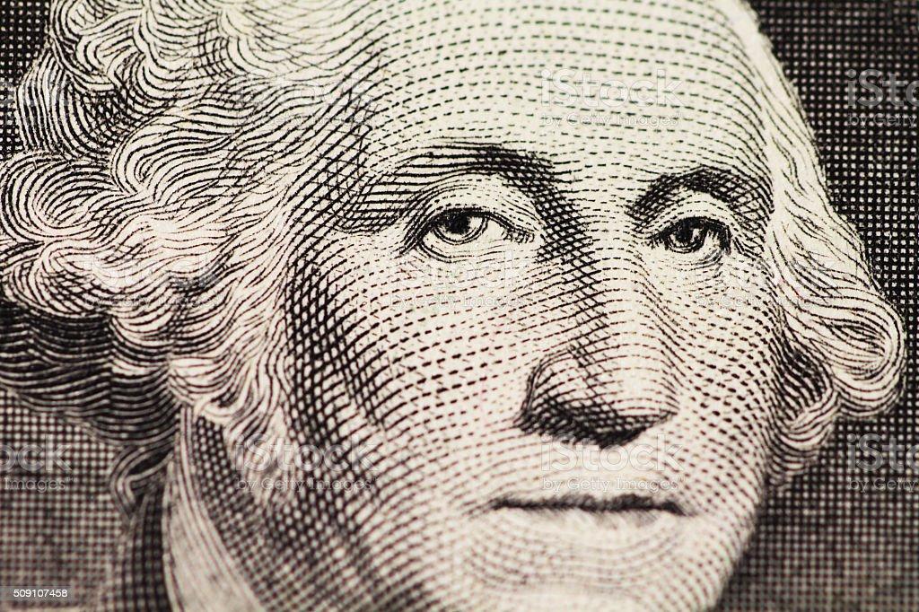 Washington retrato em dólar - foto de acervo