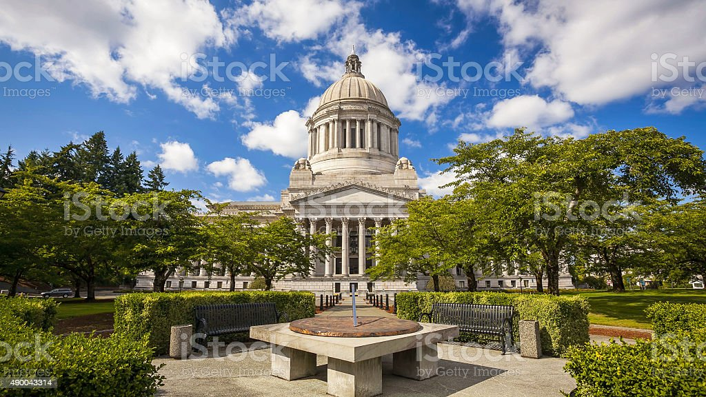 Washington's State Capitol in Olympia stock photo