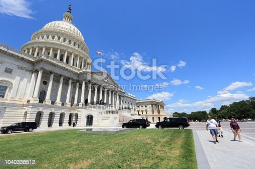 People visit the US Capitol in Washington DC. 18.9 million tourists visited capital of the United States in 2012.