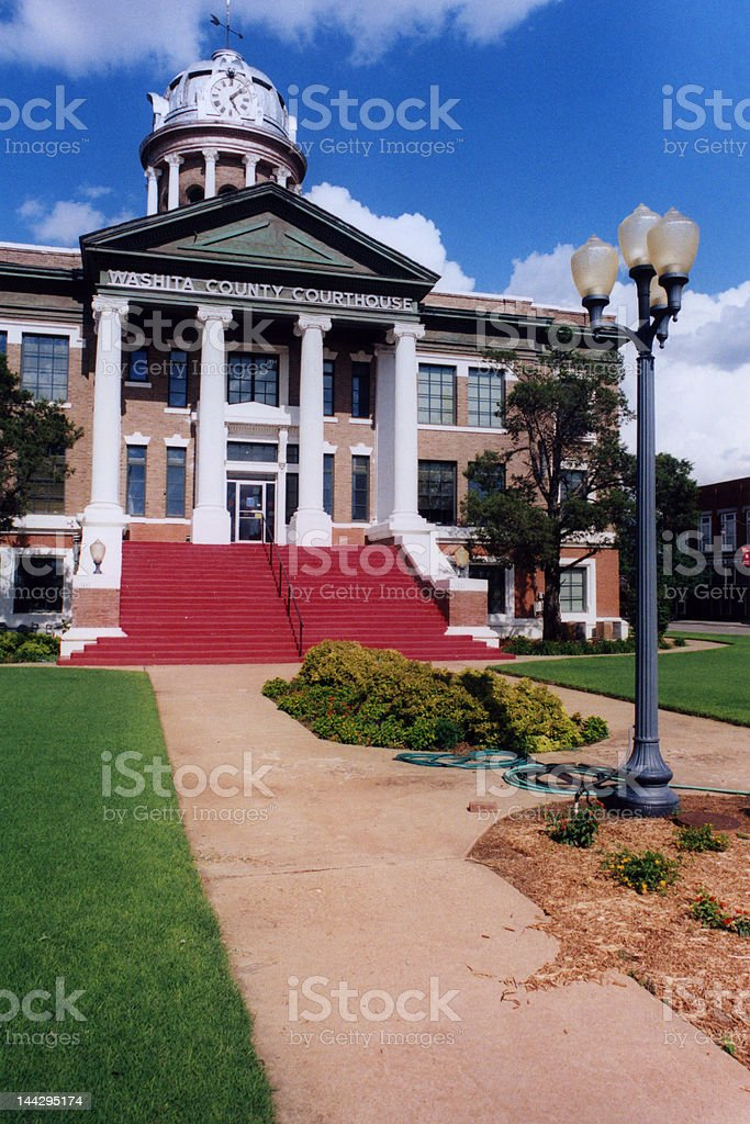 Washita County Courthouse royalty-free stock photo