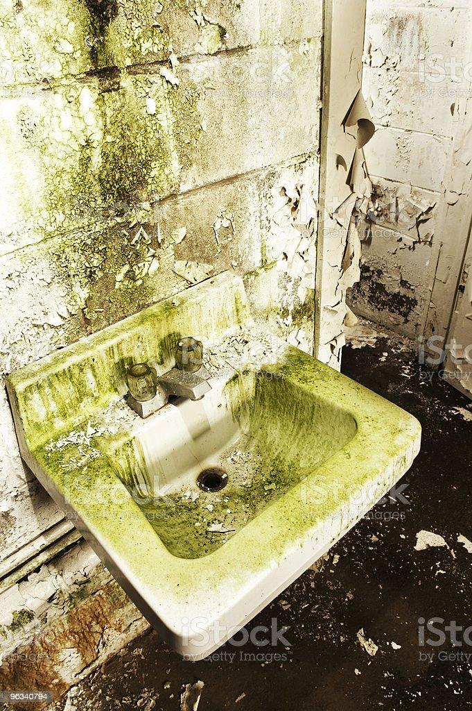 Washroom Grunge royalty-free stock photo