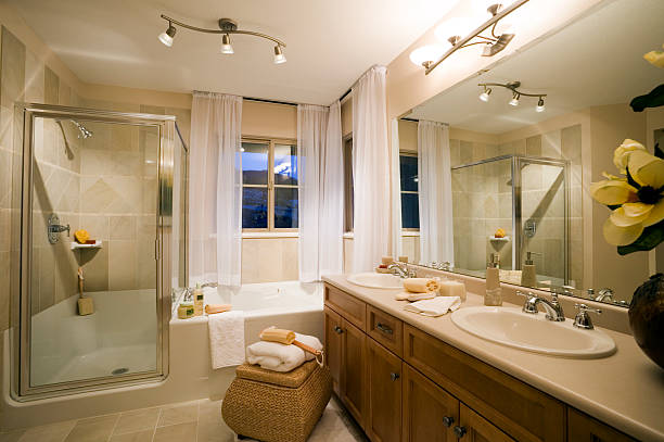 washroom house home sink - bathroom renovation stock photos and pictures