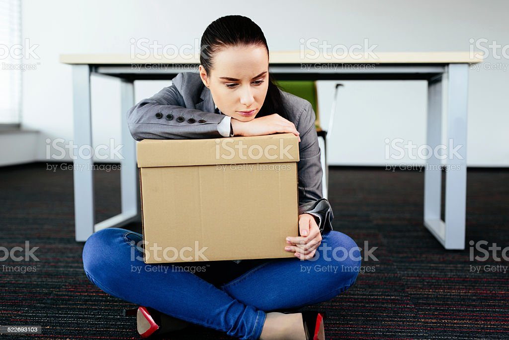 Wasn't I good enough for the job? stock photo