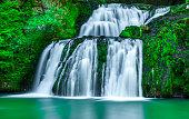 Wasserfall mit Grünem Teich