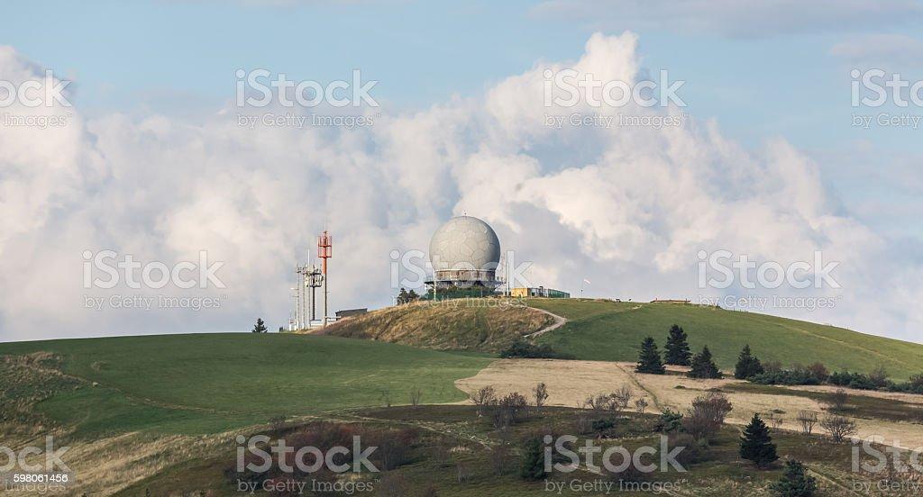 wasserkuppe mountain germany stock photo