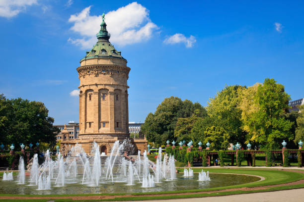 Wasserturm - Mannheim stock photo