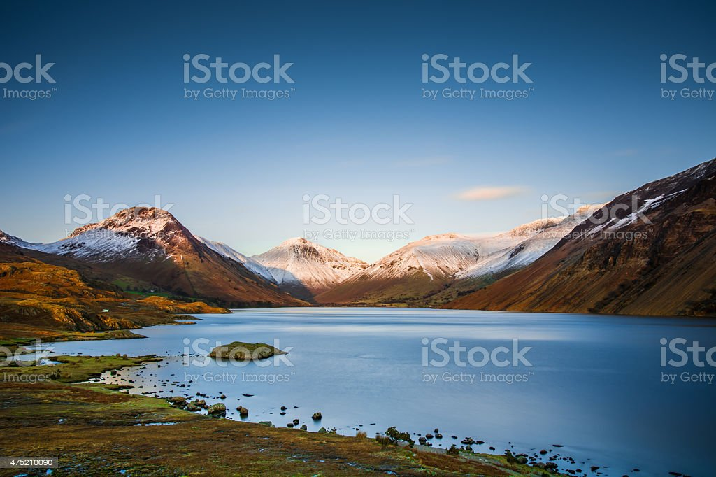 Wast Water In The Lake District Cumbria Great Gable Mountains. stock photo
