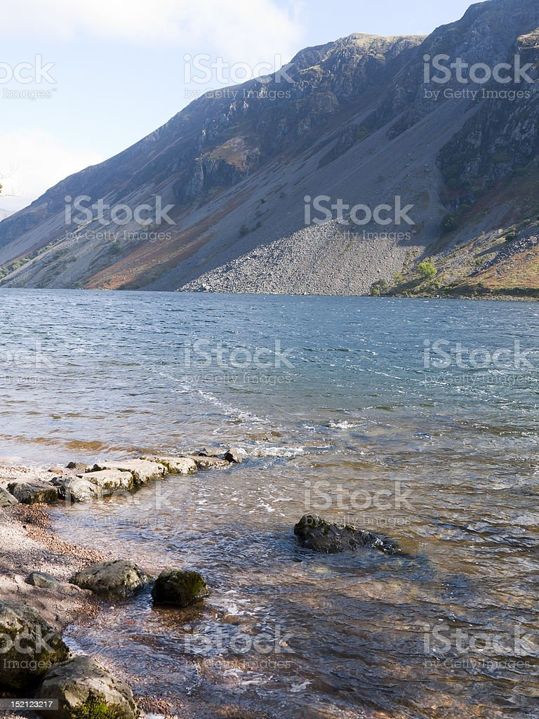 Wast Water Screes royalty-free stock photo