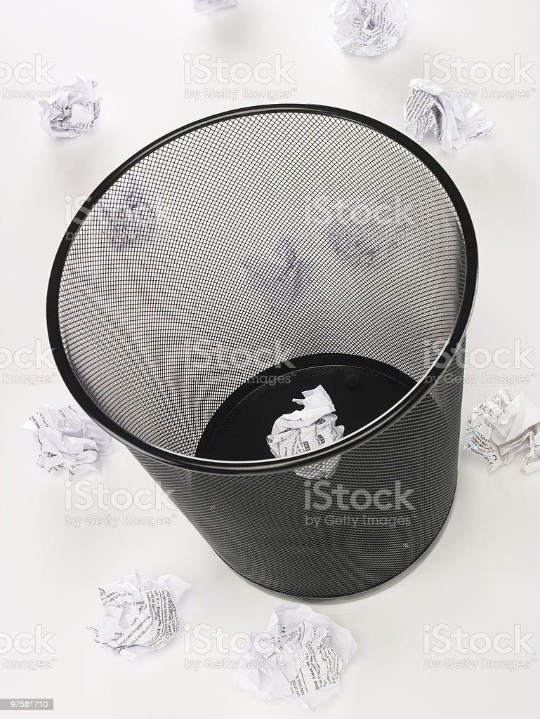 waste basket royalty-free stock photo