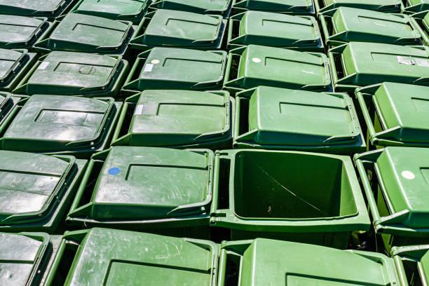 Waste bins stock photo