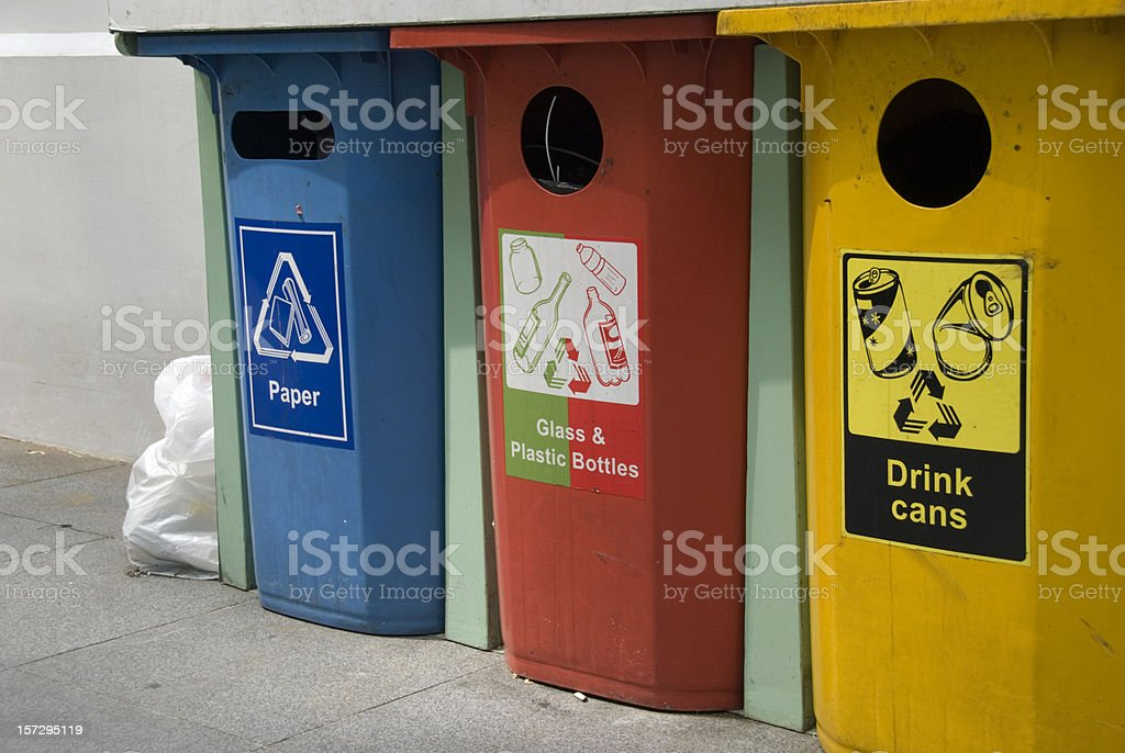 Waste bins royalty-free stock photo