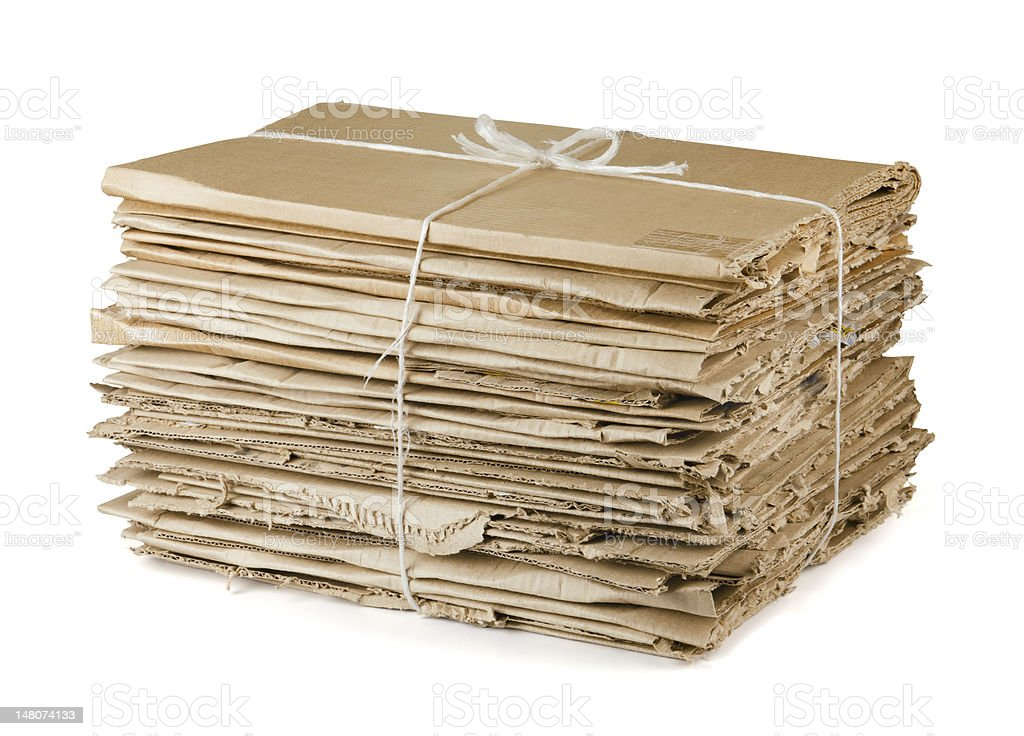 Waste cardboard stock photo