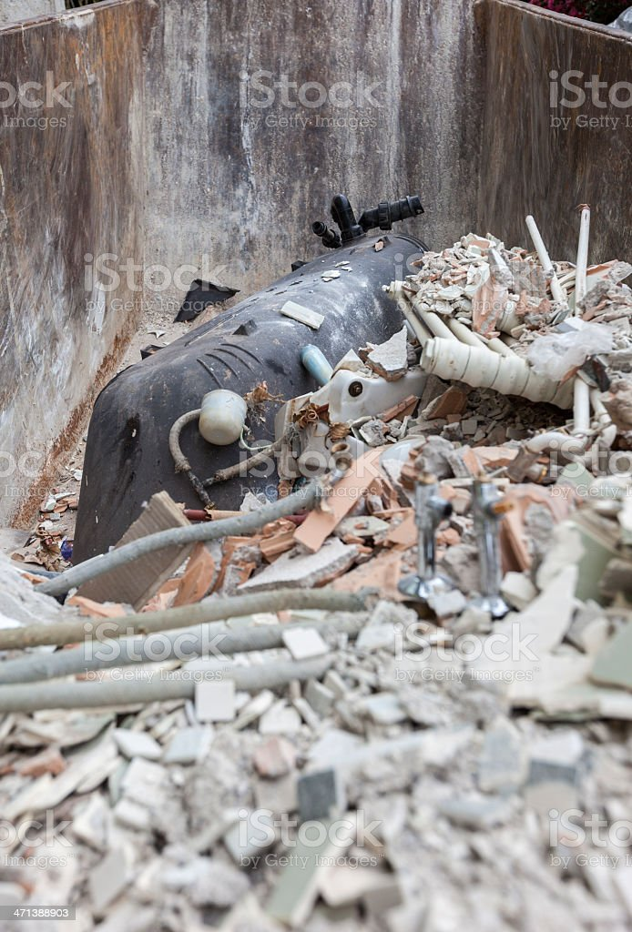 Waste Disposal During Bathroom Home Renovation Stock Photo More