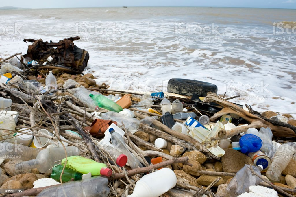 waste from the sea royalty-free stock photo