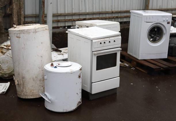 Waste houshold appliances outdoor stock photo