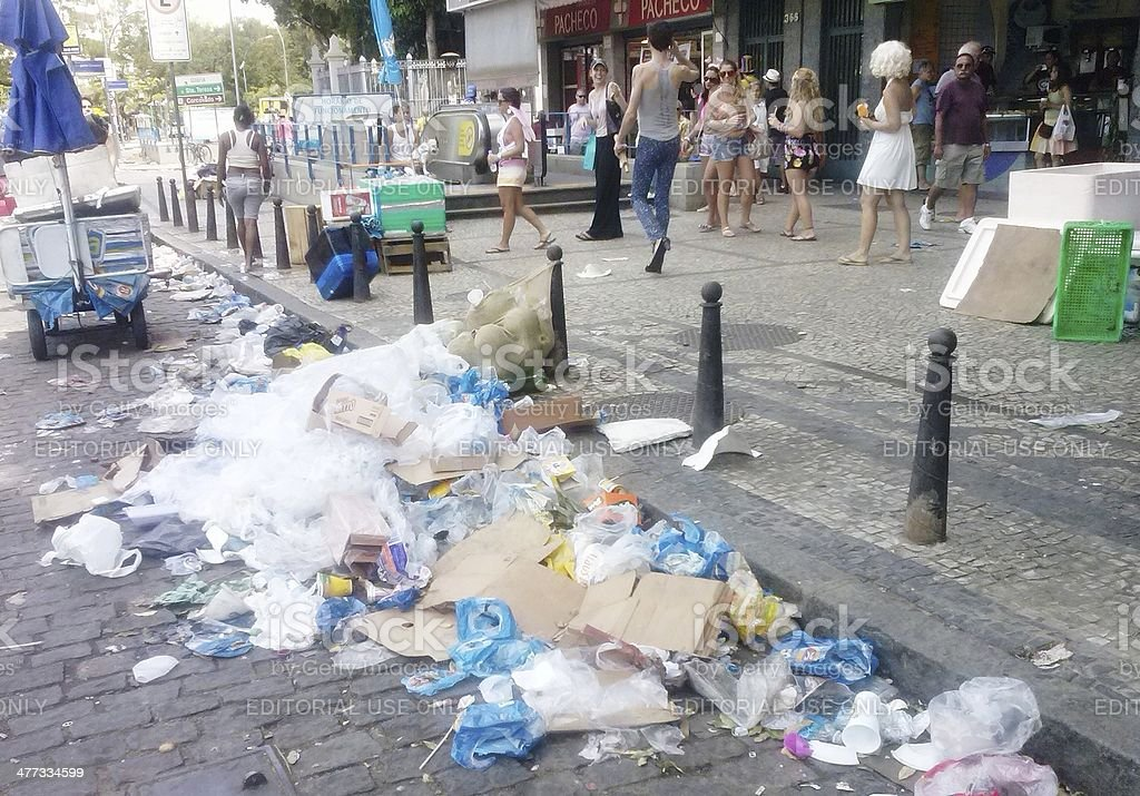 Waste in the South Zone of Rio de Janeiro royalty-free stock photo