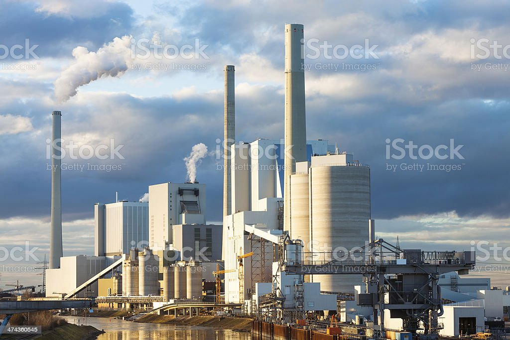 Waste Incineration and Power Plant stock photo