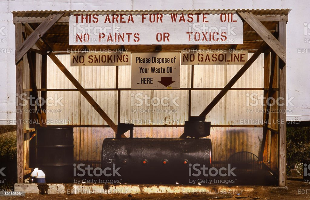 waste oil stock photo