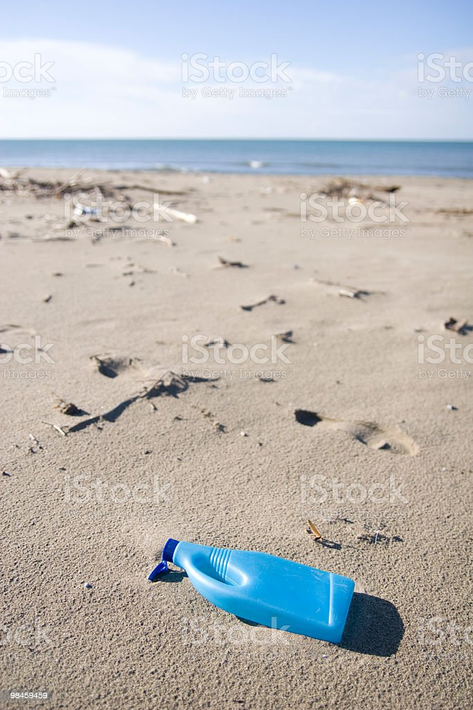 waste on the beach royalty-free stock photo