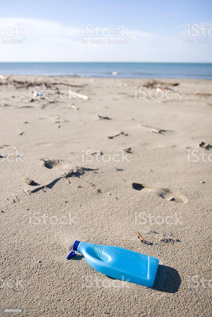 폐기물 해변 royalty-free 스톡 사진