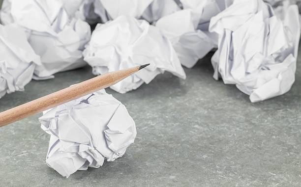 waste paper and pencil - balpress bildbanksfoton och bilder